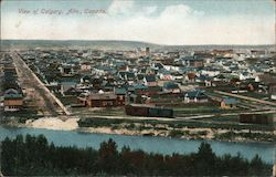 View of Calgary Postcard