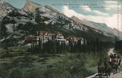 Banff Hotel and Mount Rundle, on Line of Canadian Pacific Railway Postcard