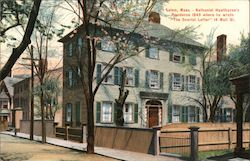 "Nathaniel Hawthorne's Residence 1849 Where He Wrote ""The Scarlet Letter"" 14 Mall St."