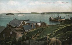 Boat and Ferry Wharves Postcard