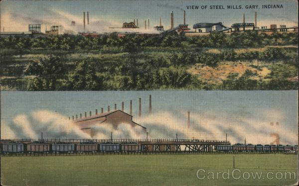 View of Steel Mills, Gary, Indiana