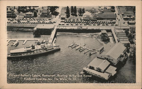 Howard Ballou's Cabins, Restaurant, Bowling Alley and Korner Weirs Beach New Hampshire