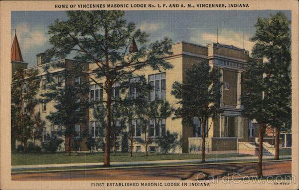 Home of Vincennes Masonic Lodge Indiana