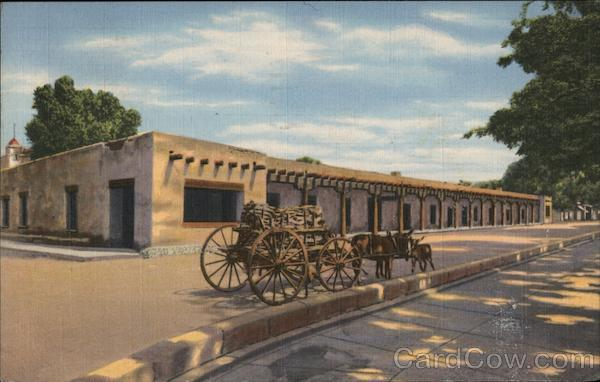 Palace Of The Governors Santa Fe Nm Postcard