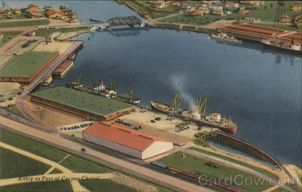 Entry to Port of Corpus Christi Texas