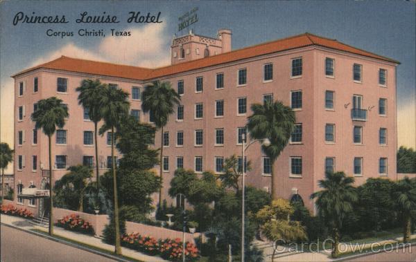 Princess Louise Hotel Overlooks Corpus Christi Bay Texas