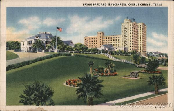 Spohn Park and Skyscrapers Corpus Christi Texas