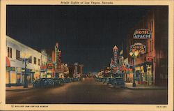 Bright Lights of Las Vegas, Nevada Postcard