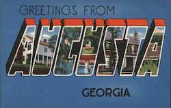 Greetings from Augusta, Georgia Postcard