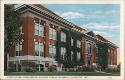 Agricultural Experimental Station, Purdue University Postcard