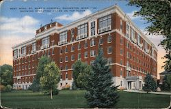 West Wing, St. Mary's Hospital - Operating Rooms on Top Floor Postcard