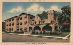 Hotel Oxford, 5th and Jefferson Postcard