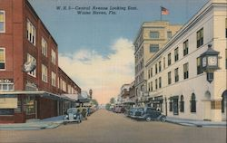 Central Avenue Looking East Postcard