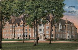 Women's Residence Hall, Purdue University Postcard