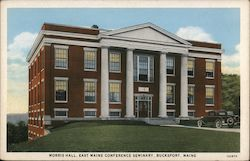 Morris Hall, East Maine Conference Seminary Postcard