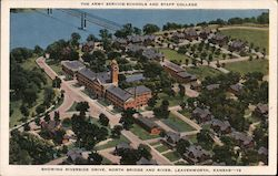 Army Service Schools and Staff College Postcard