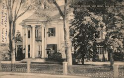 A Summer Residence on Cape Cod Postcard