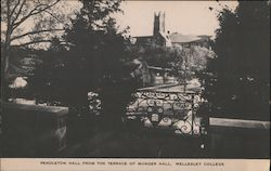 Pendleton Hall from the Terrace of Munger Hall, Wellesley College