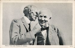 Henry Ford and Thomas A. Edison Postcard