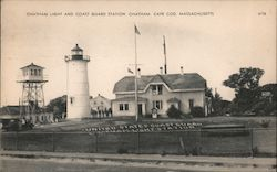 Chatham Light and Coast Guard Station, Cape Cod Postcard