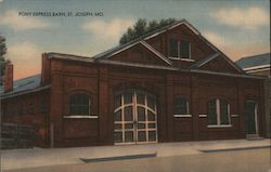 Pony Express Barn Postcard
