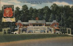 Swimming Pool, Glen Arven Country Club Postcard