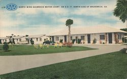 North Wing Seabreeze Motor Court, On U.S. 17, North Side of Postcard