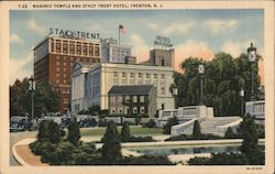 Masonic Temple and Stacy Trent Hotel Postcard