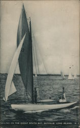 Sailing on the Great South Bay, Long Island Postcard