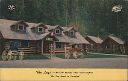"The Logs-Resort Motel and Restaurant ""On the Road to Paradise"""