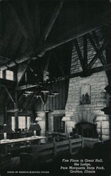 Fire Place in the Great Hall, The Lodge