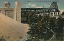 An Unusual View of the New Bourne Bridge Postcard