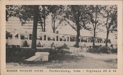 Modern Tourist Court Postcard