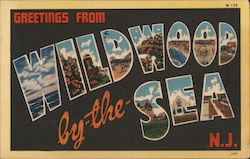 Greetings from Wildwood by the sea N.J. Postcard