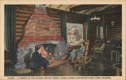 A Corner in the Lounge, Bright Angel Lodge Postcard