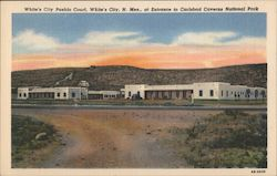 White's City Pueblo Court Postcard