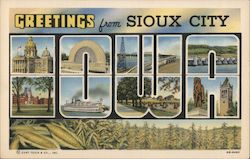 Greetings From Sioux City Postcard