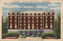 Hotel Monticello - The Gracious Charm of a Lovely Home Postcard