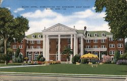 Biloxi Hotel, Overlooking the Mississippi Gulf Coast Postcard