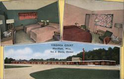 Virginia Court, Ike J. Davis Owner Postcard