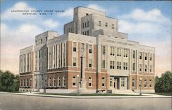 Lauderdale County Court House, Meridian, Miss. Postcard