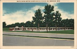 White Haven Motor Courts on U.S. & 11 & U.S. 80 Postcard