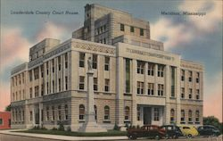 Lauderdale County Court House Postcard