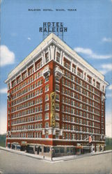Raleigh Hotel, Waco, Texas Postcard