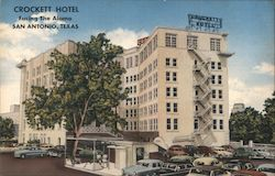 Crockett Hotel, Facing The Alamo, San Antonio, Texas
