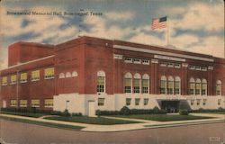 Brownwood Memorial Hall Postcard