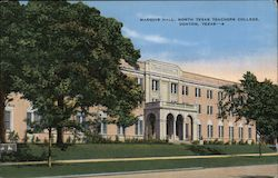 Marquis Hall, North Texas Teachers College Postcard