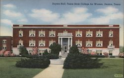 Sayers Hall, Texas State College for Women Postcard
