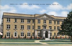 Terrill Hall, North Texas State Teachers College Postcard