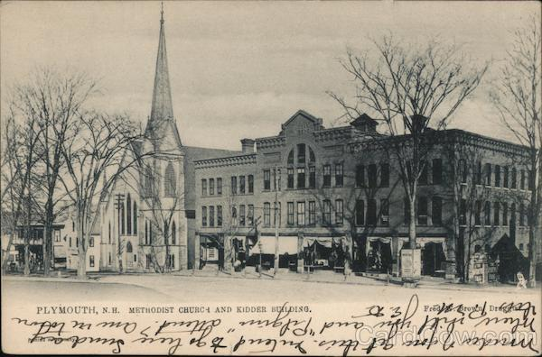Methodist Church and Kidder Building Plymouth New Hampshire